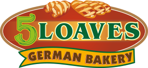 5 Loaves German Bakery Logo